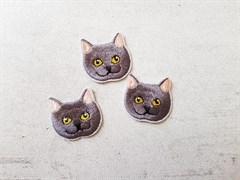 Термоаппликация, Серый кот