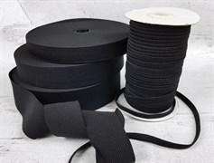 Резинка тканая, черная 8мм