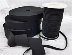 Резинка тканая, черная 30мм