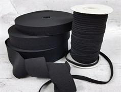 Резинка тканая, черная 40мм