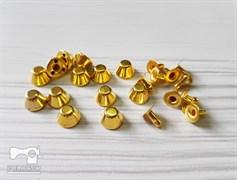 Конусы с креплением, золото 10мм