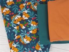 Футер 2х-нитка, Лисички в шарфах - фото 7631
