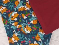 Футер 2х-нитка, Лисички в шарфах - фото 7632