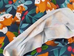Футер 2х-нитка, Лисички в шарфах - фото 7633
