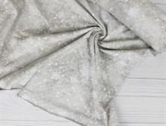 Футер 2х-нитка, Снежинки на бежевом фоне