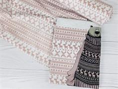 Футер 2х-нитка, Вязанка на меланже - пудра - фото 7679