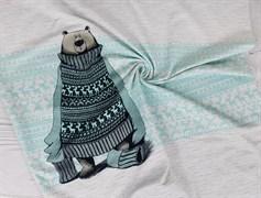 Медведь в свитере (ментол) - футер - фото 7697