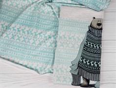 Футер 2х-нитка, Вязанка на меланже - ментол - фото 7699