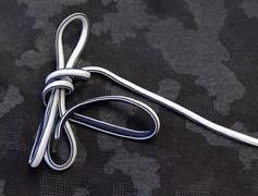 Шнурки бело-синие - фото 8084