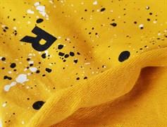 Футер 2х-нитка, Rock-брызги на желтом - фото 8306