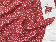 Штапель, Мелкие цветочки на красном
