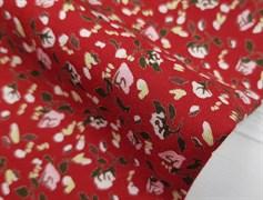 Штапель, Мелкие цветочки на красном - фото 8455