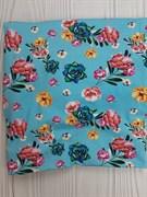 Кулирка с лайкрой  - цветущий сад