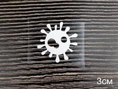 Вирус белый - 3см - фото 9090