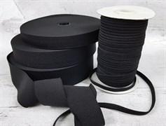 Резинка тканая, черная 50мм