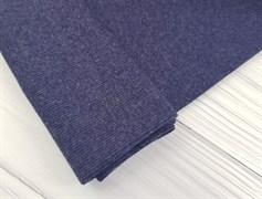 Кашкорсе плотное, Темно-синий меланж - фото 9387