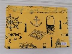 Кулирка Морская тематика на желтом
