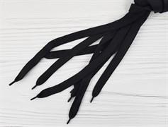 Шнурок широкий, 120см - черный